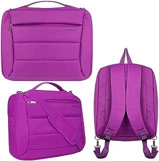 14 15.6 Inch Laptop Shoulder Messenger Bag, Briefcase, Backpack Fit MSI,Acer,Dell,Razer,Gigabyte,Samsung, Purple