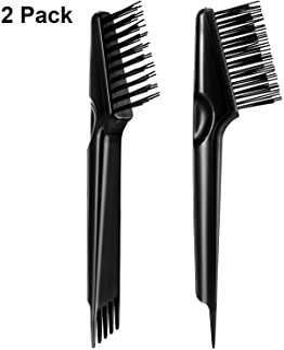 Hair Brush Cleaning Tool Hair Brush Cleaner Rake for Removing Dirt Home and Salon Use, Black (2 Packs)