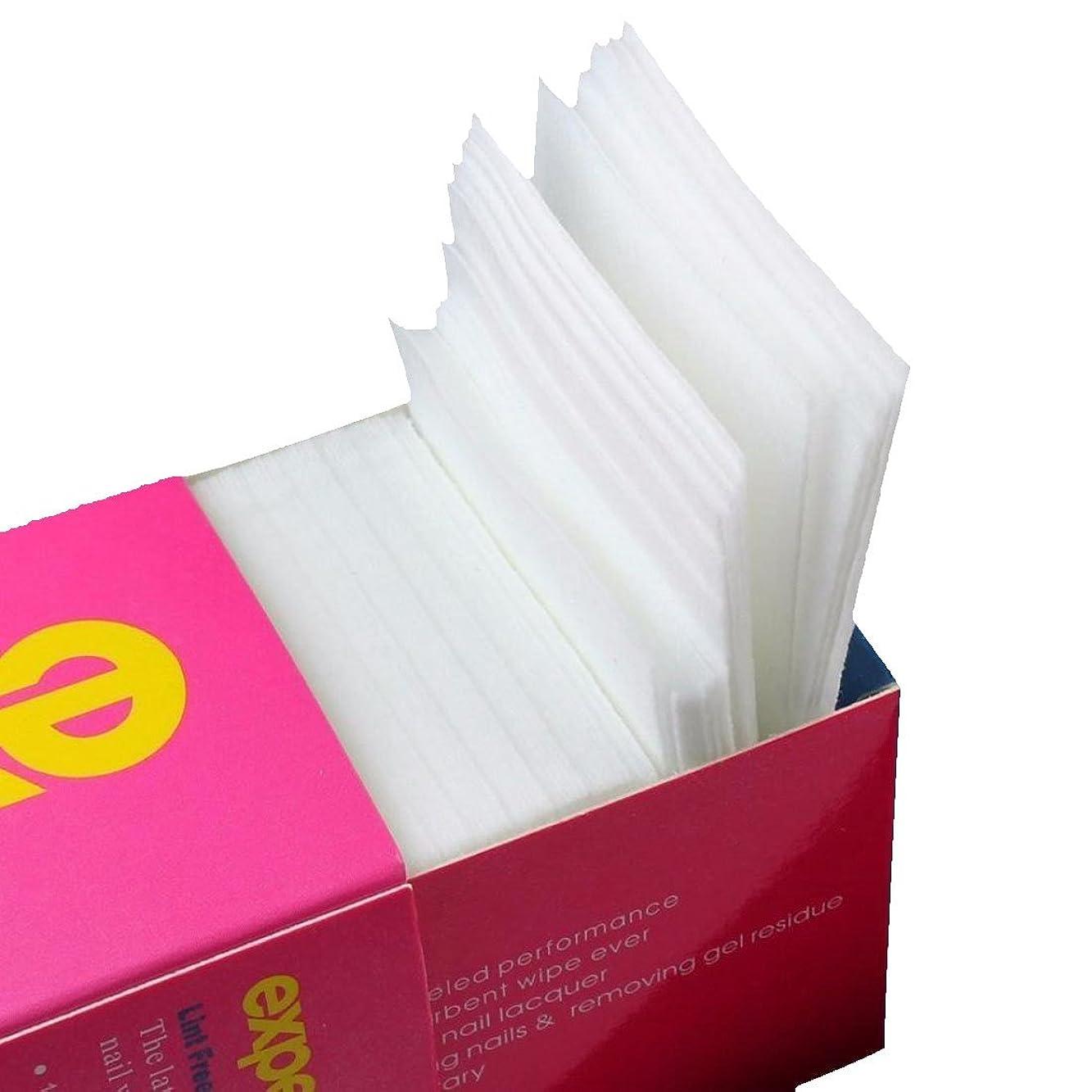 シュガー消化抱擁ACAMPTAR 325枚ネイルワイプリントフリーコットンパッド、ネイルジェル除去用不織布綿シートネイルポリッシュクリーニングパッド