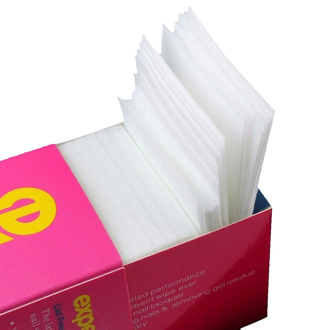 興奮コーナー原因Cikuso 325枚ネイルワイプリントフリーコットンパッド、ネイルジェル除去用不織布綿シートネイルポリッシュクリーニングパッド