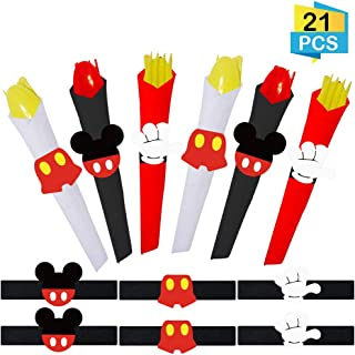 21 PCS Mickey Mouse Napkin Rings Mickey Mouse Ears Napkin Rings for Kids Birthday Party Baby Shower Mickey Theme Party Supplies
