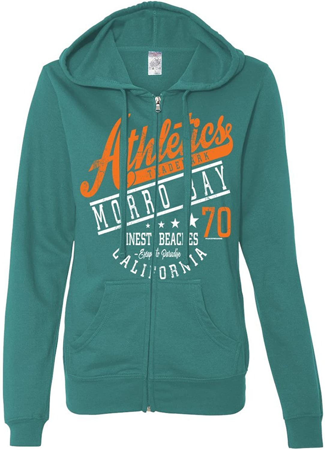 Dolphin Shirt Co Morro Bay Athletics Ladies Lightweight Fitted ZipUp Hoodie