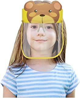 WIWN Kids Cartoon Anti-Fog Face Covering, Protective Corrosion-Resistant Lens, Lightweight Transparent Safety Shields with...