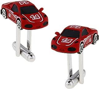 Aooaz Cufflinks Studs Racing Car Cufflinks for Dad Wedding Red