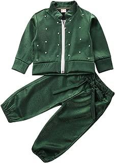 Unisex Casual Tracksuit Baby Boys Girls Clothes Long Sleeve Zipper Sweatshirt Jacket Pants Outfit Set School Uniform