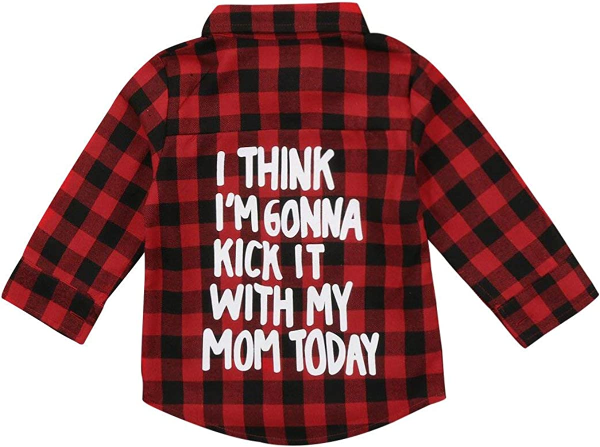 waterluo Unisex Toddler Kids Baby Girls Printed Plaid Shirt Long Sleeve Tops Coat Fall Winter Clothes