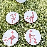 Marcadores de Pelotas de Golf, Marcadores de Golf Hechos a Mano Juego de 4 Marcadores Hechos a Mano para Pelotas de Golf para Adultos Humor