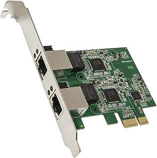 Dual 2.5 Gigabit Ethernet PCI Express PCI-E Network Controller Card 10/100/1000/25000 Mbps RJ45 LAN Adapter Low Profile Br...