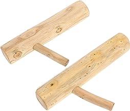 IMIKEYA 2pcs Wood Tree Branch Wall Hooks Wooden Coat Hooks Rustic Decorative Adhesive Hooks Towel Rack Clothes Hanger for ...