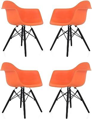Amazon.com: Juego de sillas de comedor LXP con soporte de ...