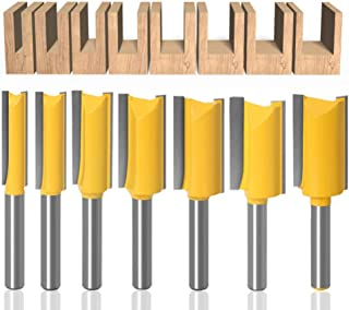Sponsored Ad – Baorder 1/4 Inch Shank 7Pcs Woodworking Tungsten Carbide Router Bit Set Double Flute Milling Cutter Straigh...