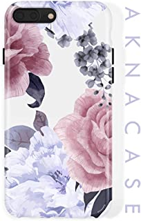 iPhone 8 Plus/iPhone 7 Plus case for Girls, Akna Collection Flexible Silicon Cover for Both iPhone 7 Plus & 8 Plus [Floral Peony](803-U.S)