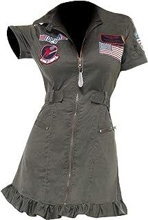 Ladies Top Gun Outfit Costume 80s Pilot Aviator Womens Halloween Costume Jacket