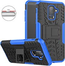 EMAXELER Samsung Galaxy J8 2018 Case PC + TPU Hybrid Impact Armor Tire Model with Kickstand Shockproof Heavy Duty Hard Dual Layer Case for Samsung Galaxy J8 2018 -Blue Tire Pattern JX.