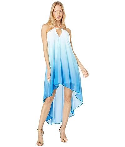 Bebe Halter Neck High-Low Maxi Dress