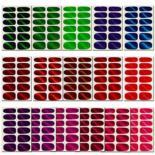 16 Sheets Glitter Cat Eye Nail Wraps, Full Nail Art Stickers Self-Adhesive Nail Polish Decal Strips for Women Girls Manicure DIY with 3 Pcs Nail File