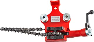 Mophorn Screw Bench Chain Pipe Vise For 1/2 to 6inch Pipe Bench Vise with Crank Handle