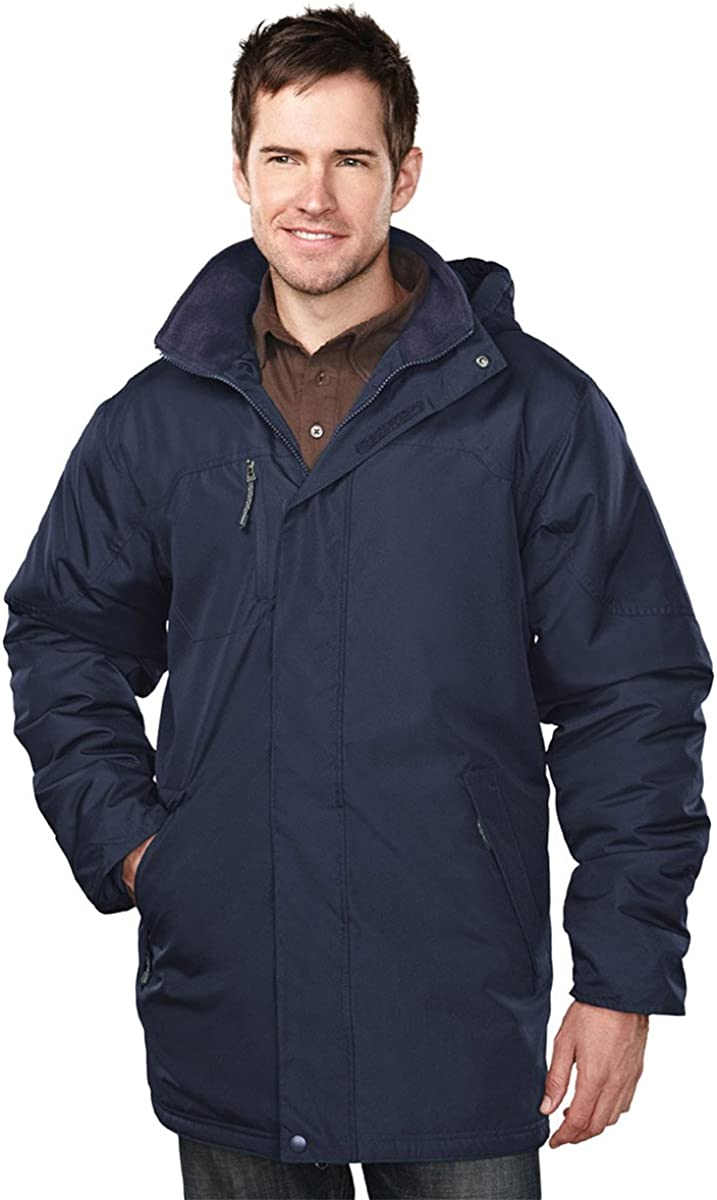 Tri-mountain Mens 100% Polyester long sleeve jacket with water resistent - NAVY/NAVY - XX-Large