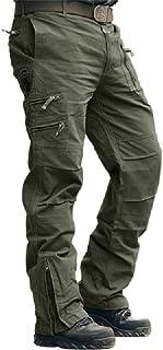MAGCOMSEN - Pantalón de trabajo para hombre (algodón, ajuste holgado, tallas 30-38)