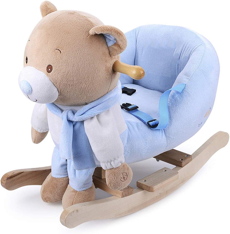 Schaukelstuhl Schaukelpferd Musik Schaukelpferd Kinder Holzpferd Schaukelpferd Baby Geschenk Spielzeugauto 60  26  38 cm FANJIANI (Farbe   A)