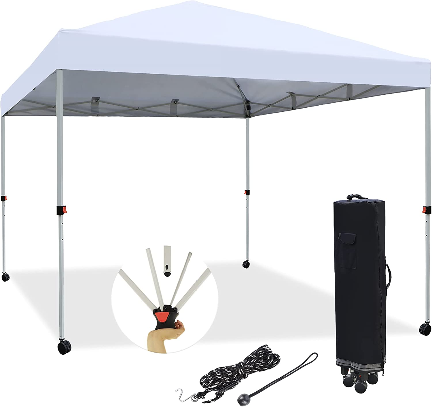 Blissun 10' x Pop Up Canopy Ou 激安 Shelter Tent Instant 送料無料(一部地域を除く)