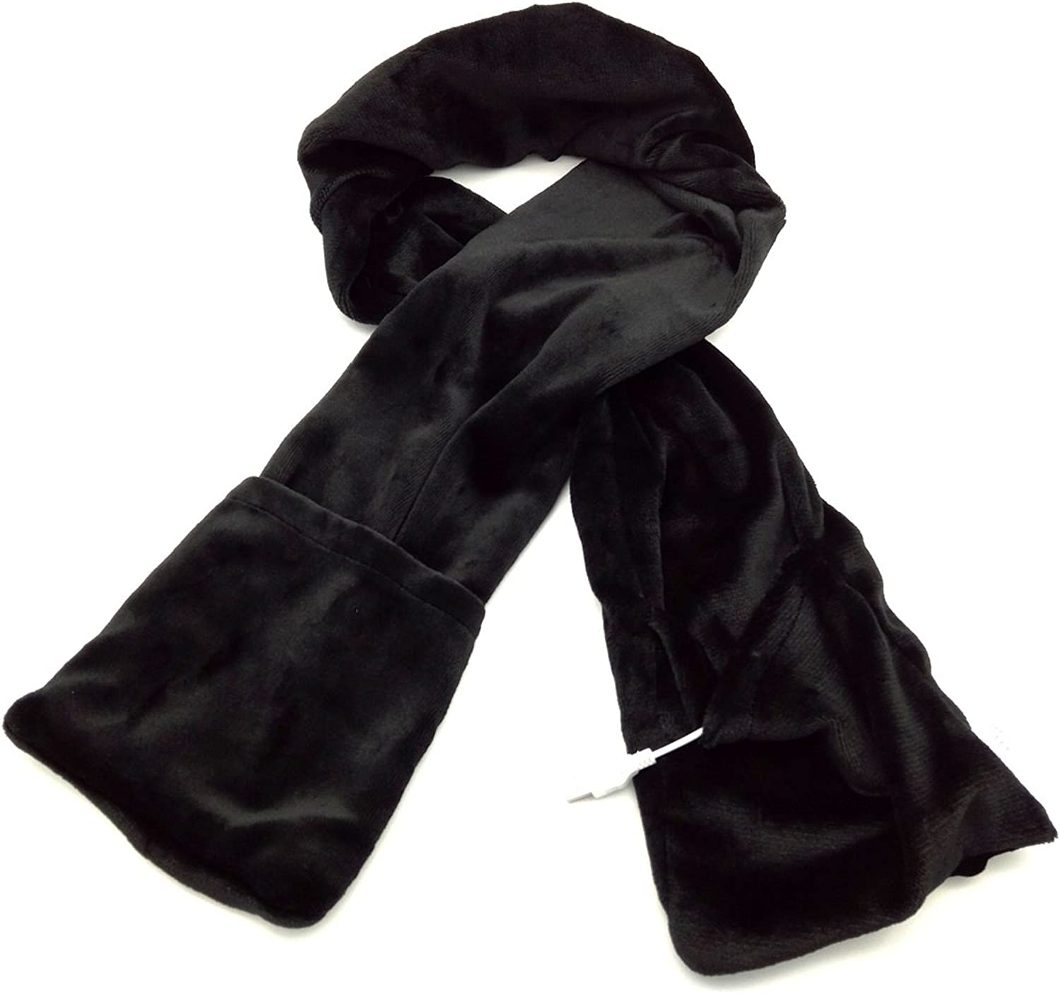 7Buy USB Heating Scarf Heated Neck Shawl Wrap for Winter Outdoor Leisure Sports (Black)
