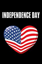 """Independence Day: No.5 Fourth of July U.S. Flags , Black Color Book 6x9"""" 100 Pages Blank Lined Notebook / Journal / Diary ..."""