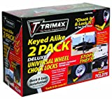 Trimax Wheel Chock Lock Set of 2