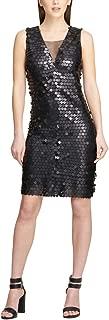 DKNY Womens Black Sequined Sleeveless V Neck Above The Knee Sheath Party Dress US Size: 4XL