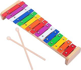 Generic Xylofon För Barn 15- Ton Trä Glockenspil Musikalisk Leksak Med Klämmar Percussion Instrument Förskola Utbildningsu...