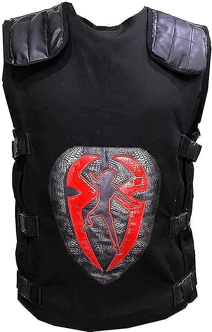 Celebrity Wrestler Black Cotton Logo Vest | Mens Cotton Black Vest