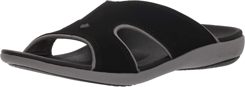 Spenco Women's Kholo Plus Slide Sandal, Onyx, 12 Medium US