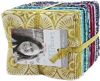 Longitude Batiks by Kate Spain Fat Quarter Bundle 40 Precut Cotton Fabric Assortment for Moda Fabrics, 27259AB
