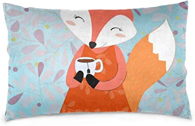 ArtVerse Katelyn Smith 14 x 20 Poly Twill Double Sided Print with Concealed Zipper /& Insert Sleeping Fox Pillow
