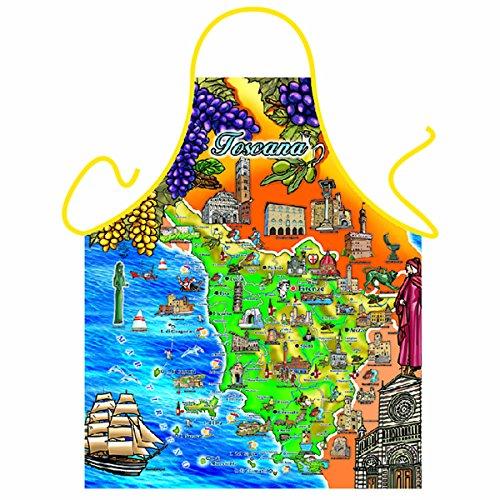 Toskana Landkarte Schürze Sehenswürdigkeiten Italien Kochschürze : Toscana - Themenschürze +Urkunde