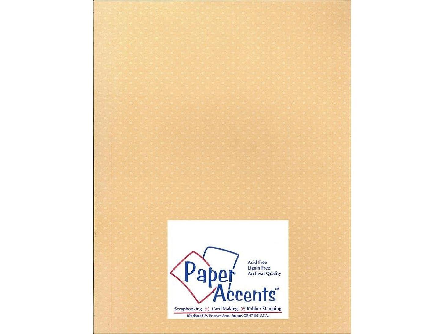 Accent Design Paper Accents Cdstk Mini Dots 8.5x11 80# Cotton Grass