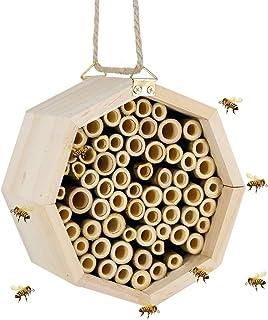 "winemana Handmade Natural Bamboo Bee Hive, Mason Bee House Tubes for Solitary Native Bees, 5.9"" (M)"