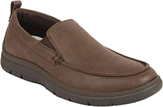 Clarks Solid Brown Coloured Textile Loafers