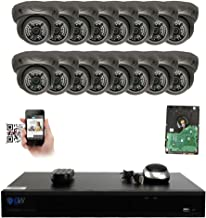 GW Security 16 Channel 4K NVR 5MP IP Camera Network PoE Surveillance System with 16-Piece HD 1920P Outdoor Indoor Weatherproof Dome Cameras - Grey