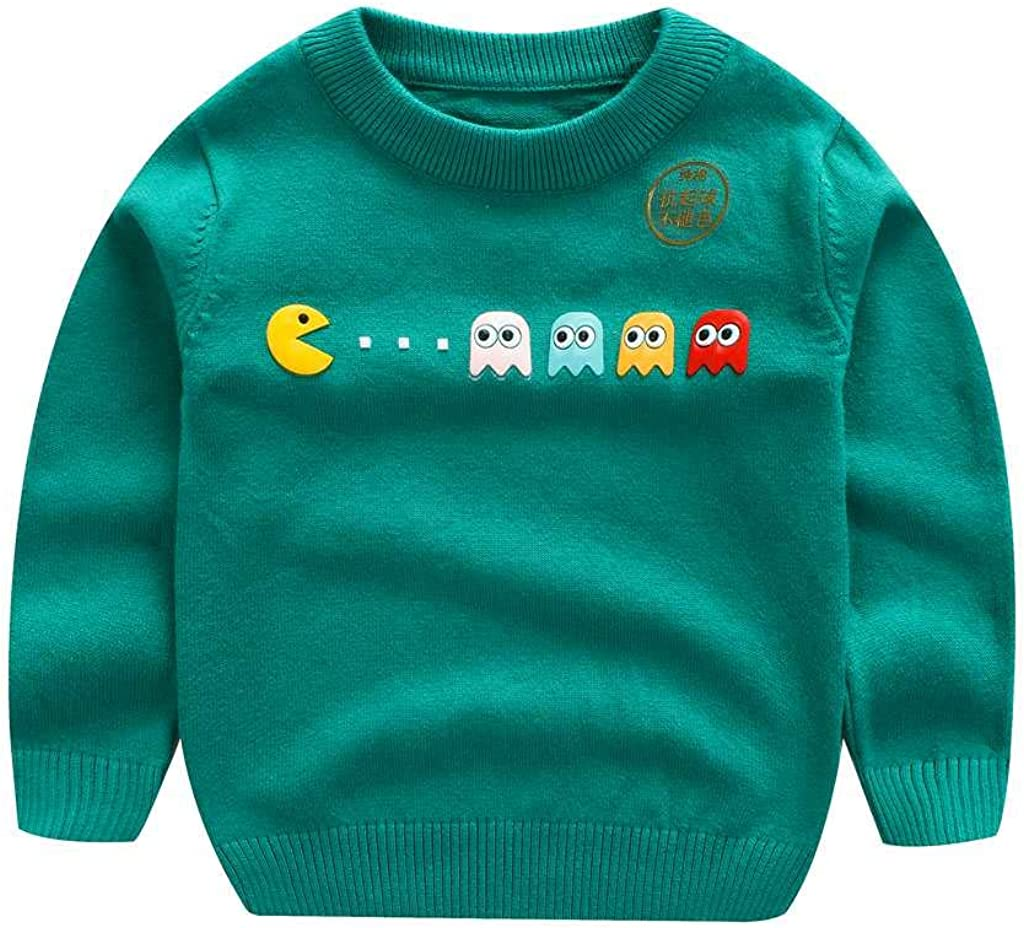 Tonwod Baby Boy Cardigan, Long Sleeve V-Necked Knitted Button Sw