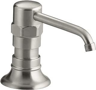 KOHLER K-7346-BS HiRise Stainless Soap or Lotion Dispenser, Brushed Stainless