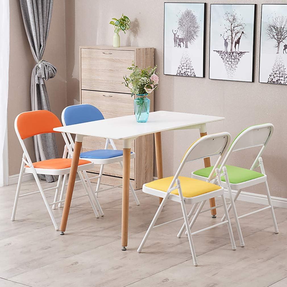 Wyujie 4 chaises de Salle à Manger chaises 4er Set Bureau Salon Restaurant Salle de réunion Cuisine Chambre Étude Durable Pliable étanche,White & White Black & Black