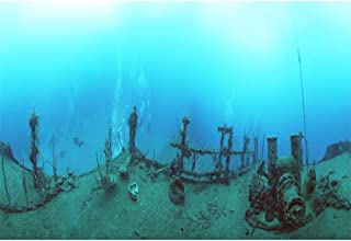 Yeele Photography Background 10x6.5ft Seabed Underwater Treasure Shipwreck Photo Backdrop Portrait Shooting Studio Props