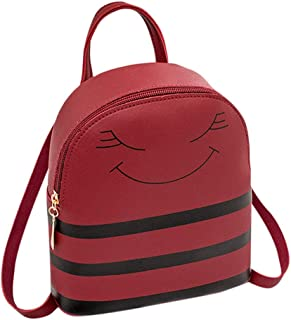 Zegeey Women's Smiley Headphone Hole Backpack Slung Shoulder Bags Mobile Phone Purse Cute Backpack Coin Purse The Best Gif...