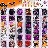 Best Nail Glitters - EBANKU 3 Boxes Halloween Nail Art Glitter Sequins Review