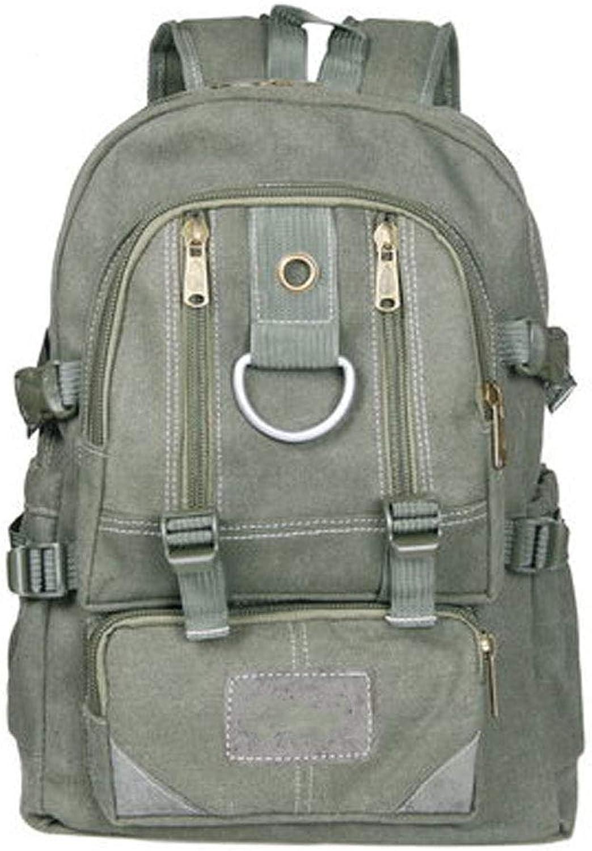 Herren Outdoor Retro Canvas Armee Schulter Reise Wandern Camping 40L groe Kapazitt Bergsteigenbeutel Rucksack für MacBook 11,13,20,32 cm AIR PRO Notebook Army Grün, Khaki
