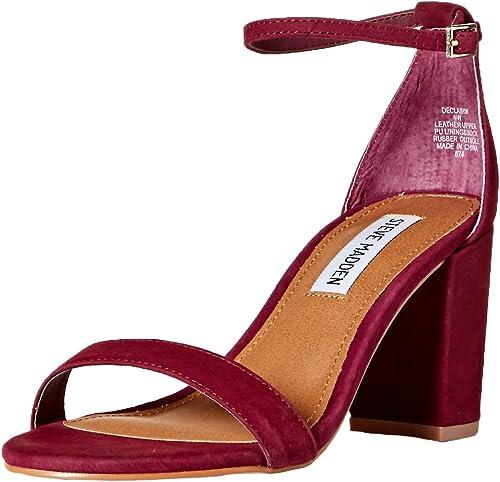 Steve Steve Madden Wohommes DECLAIRW Heeled Sandal, Burgundy Nubuck, 6 W US  bien vendre partout dans le monde
