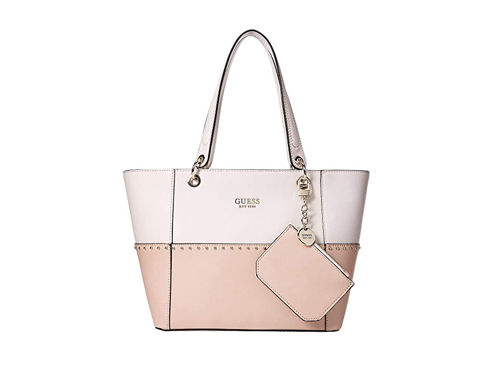 GUESS Kamryn Tote (Blush Multi) Tote Handbags, Pink 6pm