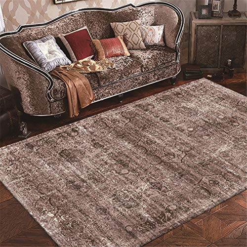 ZHAOPAI sitting room accessories Grey carpet coffee table stylish soundproof carpet retro carpet rugs bedroom -gray_80x160cm