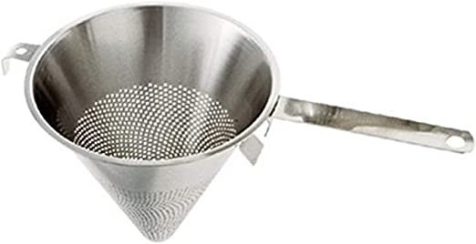 Paderno World Cuisine Stainless Steel Strainer With Granular Size Perforations 5 1 2 Inch Food Strainers Kitchen Dining